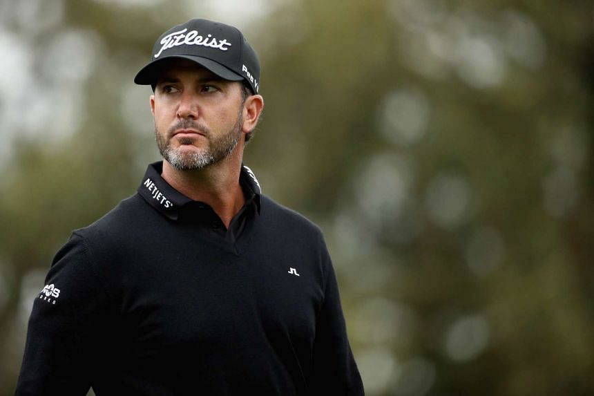 Scott Piercy walks onto the second hole during the second round of the Safeway Open.