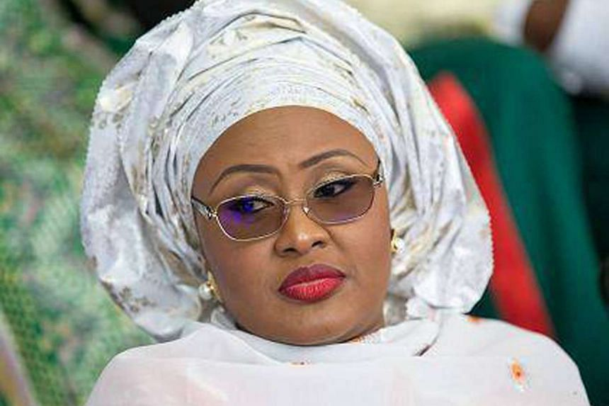 "Mr Buhari laughed off criticisms by his his wife, Aisha Buhari (above), saying he had ""superior knowledge"" about running a government. She had said she might not back her husband in the next election unless he shakes up his government."