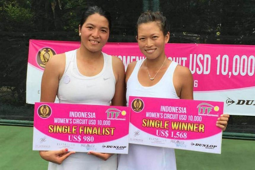 Singapore's top tennis player Stefanie Tan won her second title in Jakarta.