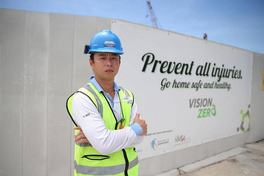 Safety coordinator Tan Zhen Sheng wants to be an advocate of lifelong learning and used his SkillsFuture Credit to upgrade his skills.