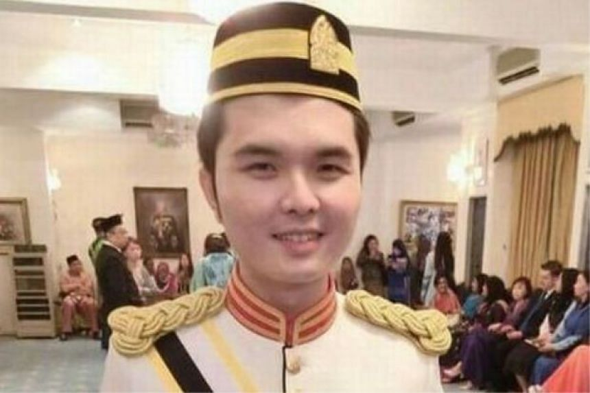 """An image that went viral online purporting to show the youngest Malaysian """"Datuk""""."""