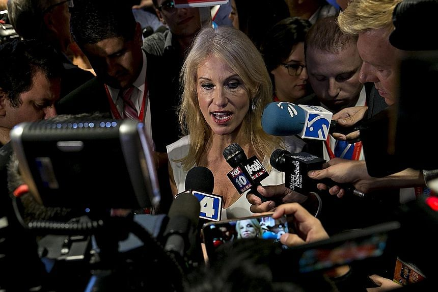 Ms Conway (above) initially had success reining in Mr Trump, but her effect on him may be wearing off, as evidenced by the 3am Twitter attack the Republican nominee launched on former Miss Universe winner Alicia Machado.