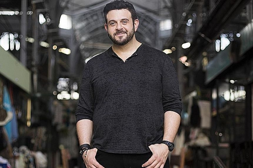 Food show host Adam Richman (above) does not like the Singapore Sling.