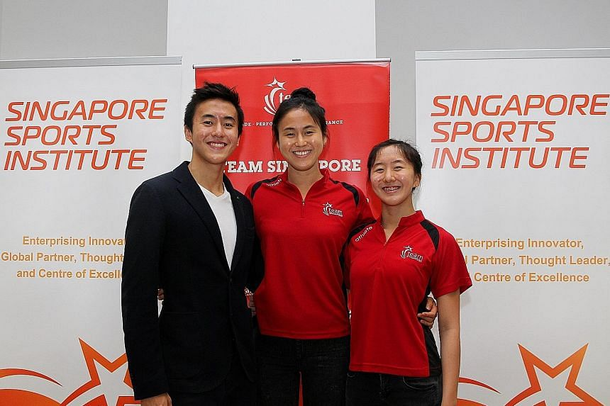 National swimmers Quah Zheng Wen and Ting Wen resumed training only recently.