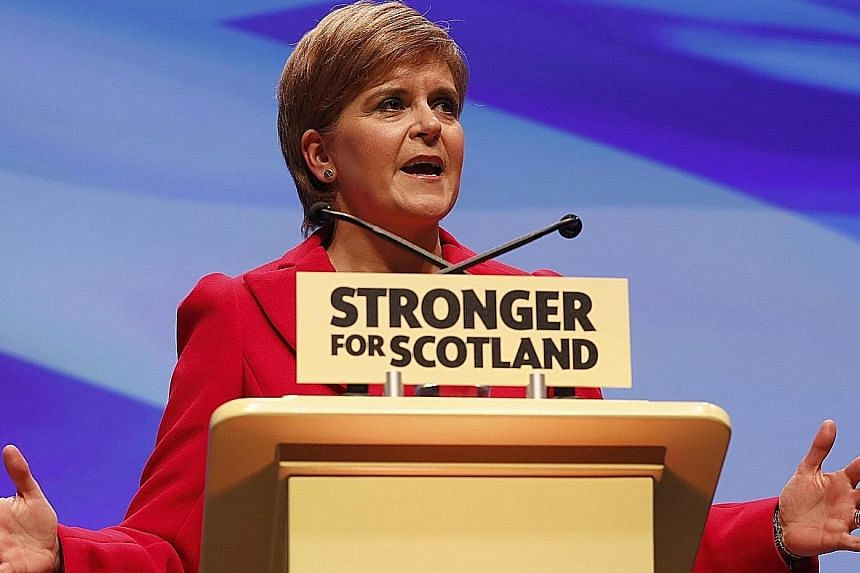 Ms Sturgeon, addressing the party's annual conference in Glasgow on Saturday, said Scotland must have the ability to choose a better future.