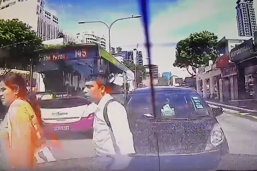 A woman was injured after being hit by an SBS Transit bus along Balestier Road towards Thomson Road on Saturday (Oct 15).