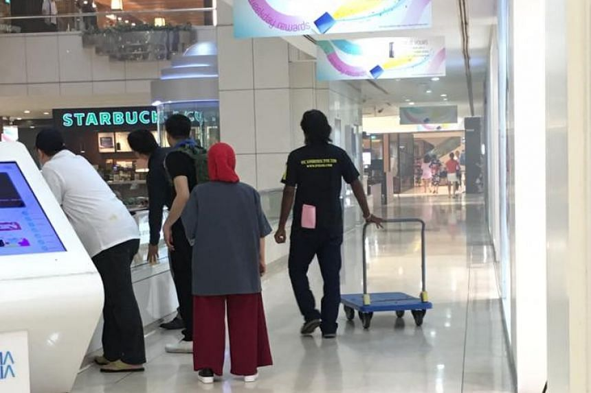 Smoke was seen at Orchard mall Wisma Atria on Oct 17, 2016.