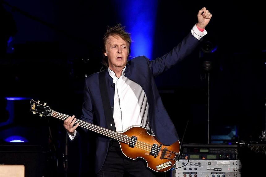 Musician Paul McCartney performs during Desert Trip at the Empire Polo Field on Oct 15, 2016 in Indio, California.