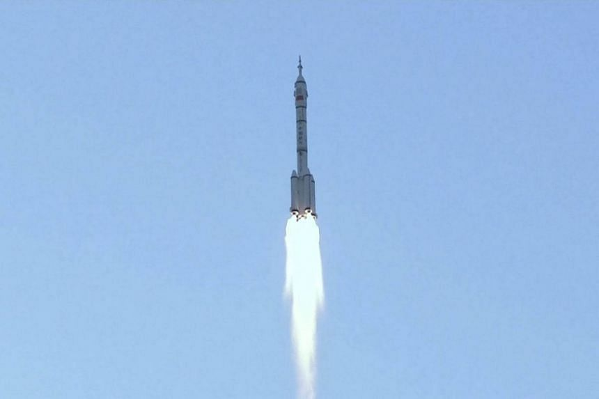China's manned spacecraft Shenzhou-11 blasted off on Monday (Oct 17) morning from the Jiuquan Satellite Launch Centre in north-west China's Gobi desert.