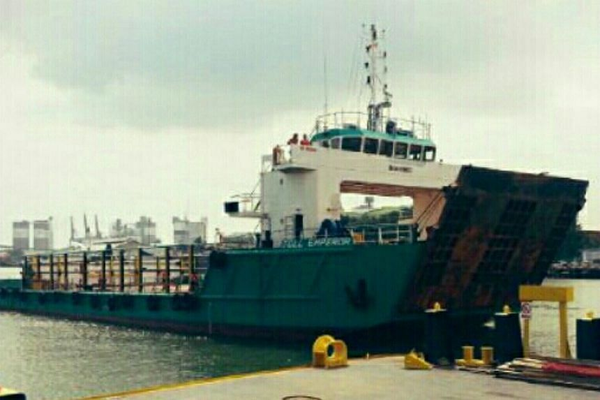 The LCT Emperor was allegedly used for smuggling used television sets, refrigerators and other household items.