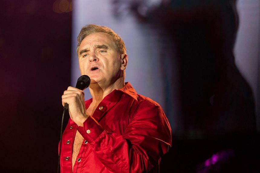 Morrissey live in concert at the Marina Barrage on Oct 17, 2016.