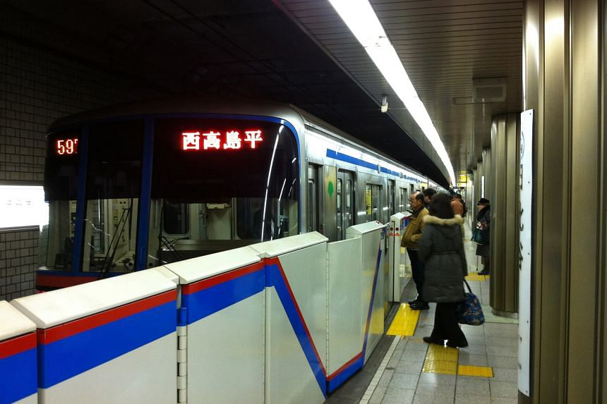 A Toei subway train in Japan.