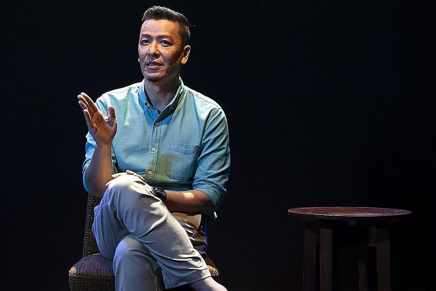 Actor Sani Hussin in The Necessary Stage's one-man show, Best Of (His Story).