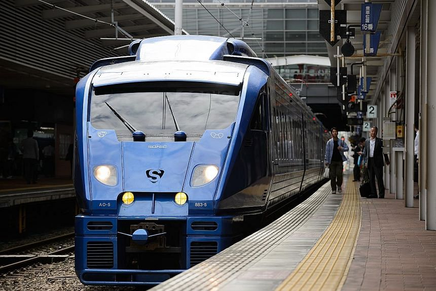 Shares in JR Kyushu, which operates bullet trains, hotels and restaurantson Japan's third-largest island,are due to list in Tokyo on Oct 25 and in Fukuoka the following day. Three-quarters of the shares are being sold domestically, with the rest