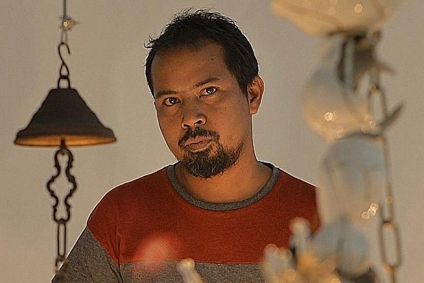 Theatre State by Jompet Kuswidananto (above), is a multi-media work that includes videos, photographs and sculptures.