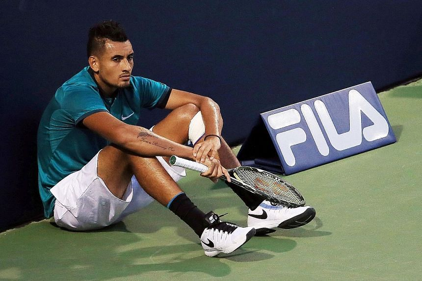 Nick Kyrgios has apologised for his behaviour at the Shanghai Masters, where he had appeared disinterested and wanting to lose his match.