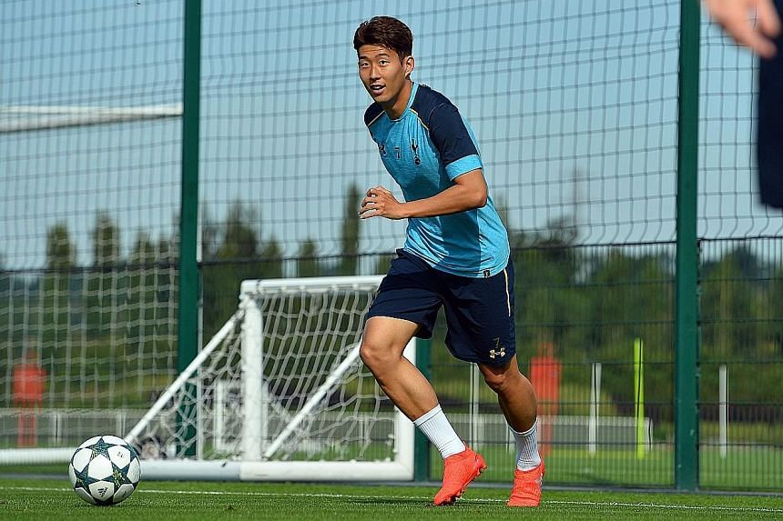 Tottenham striker Son Heung Min scored the winning goal in their last Champions League match against CSKA Moscow.