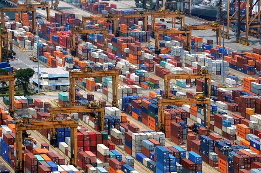Exports declined less than expected last month but the outlook for Singapore's small, trade-dependent economy remains gloomy.