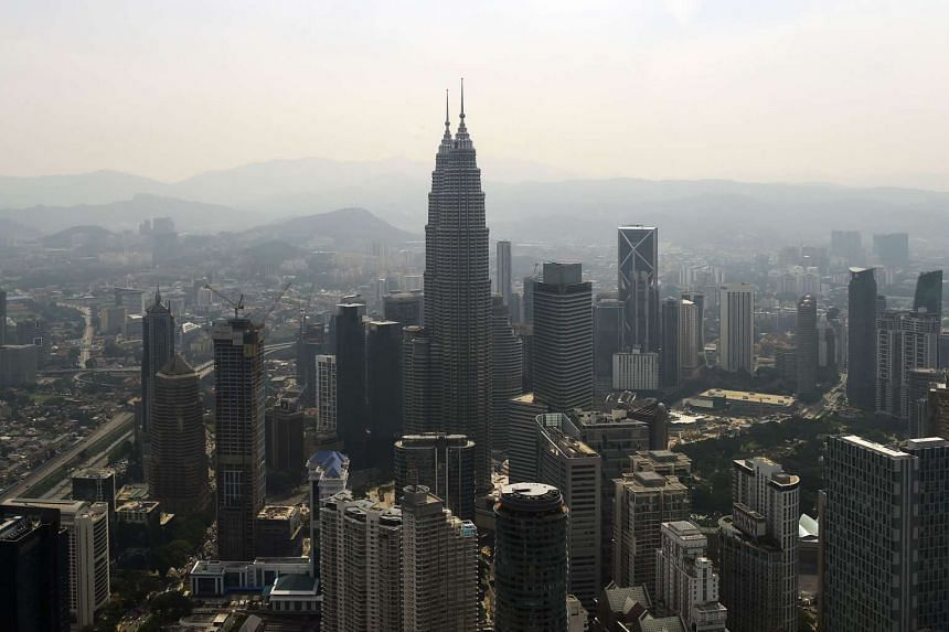 A general view of Kuala Lumpur's skyline seen from the KL tower.