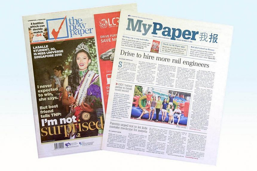 Singapore Press Holdings (SPH) is merging free sheet My Paper and paid daily The New Paper (TNP) to form a revamped TNP.