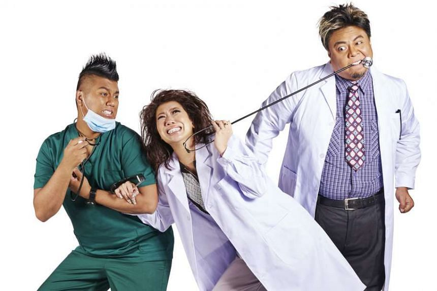 The three first-timers in Happy Ever Laughter are (above from left) Dee Kosh, Patricia Mok and Suhaimi Yusof.