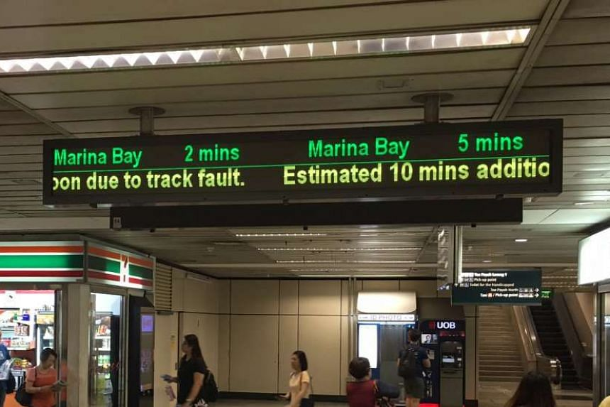 A track fault on the East-West Line resulted in train delays on Tuesday (Oct 18).