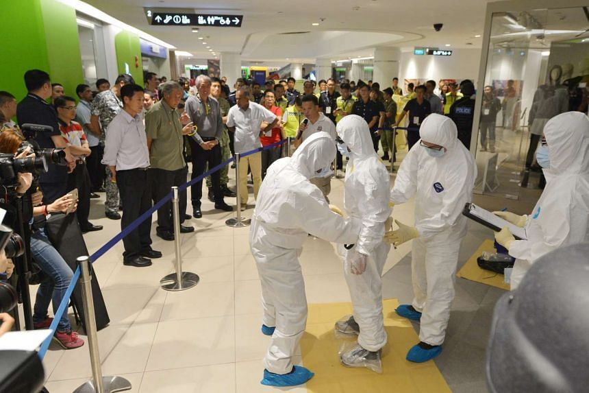 A joint counter-terrorism readiness exercise was carried out by the Singapore Armed Forces (SAF) and Singapore Police Force (SPF) at Tampines Central on Oct 17 and Oct 18, 2016.