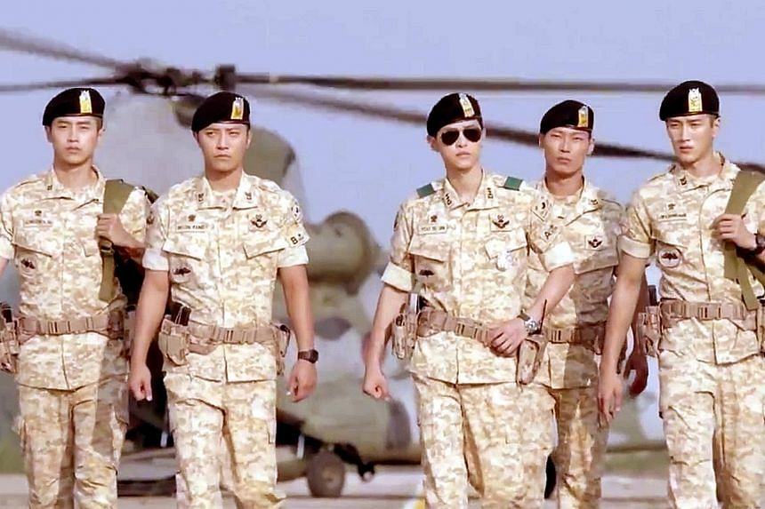 Baidu secured the exclusive distribution rights for the award-winning Korean drama Descendants Of The Sun (left) in China, one of the chapters in the fight for supremacy in online video among China's Internet giants.
