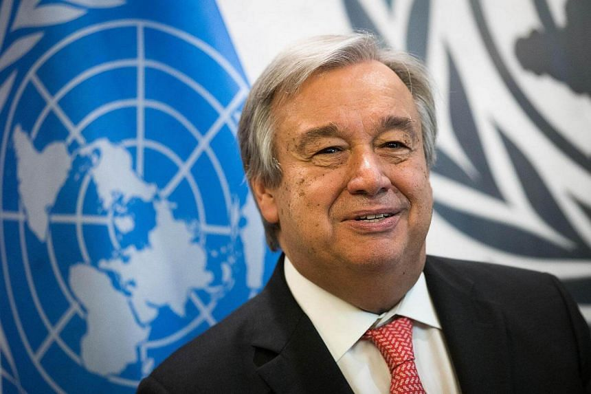 Newly-elected United Nations Secretary General-designate Antonio Guterres looks on a photo opportunity at the United Nations (UN) headquarters.