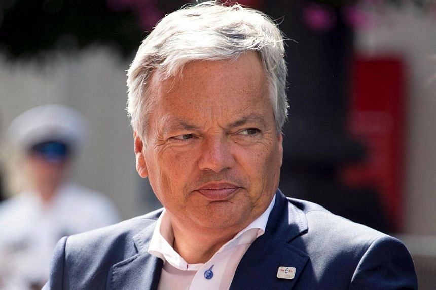 Foreign Minister of Belgium Didier Reynders attends an EU meeting in Bratislava, Slovakia, on Sept 2, 2016.