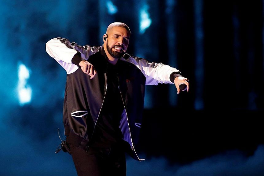 Drake performs during the iHeartRadio Music Festival at The T-Mobile Arena in Las Vegas.
