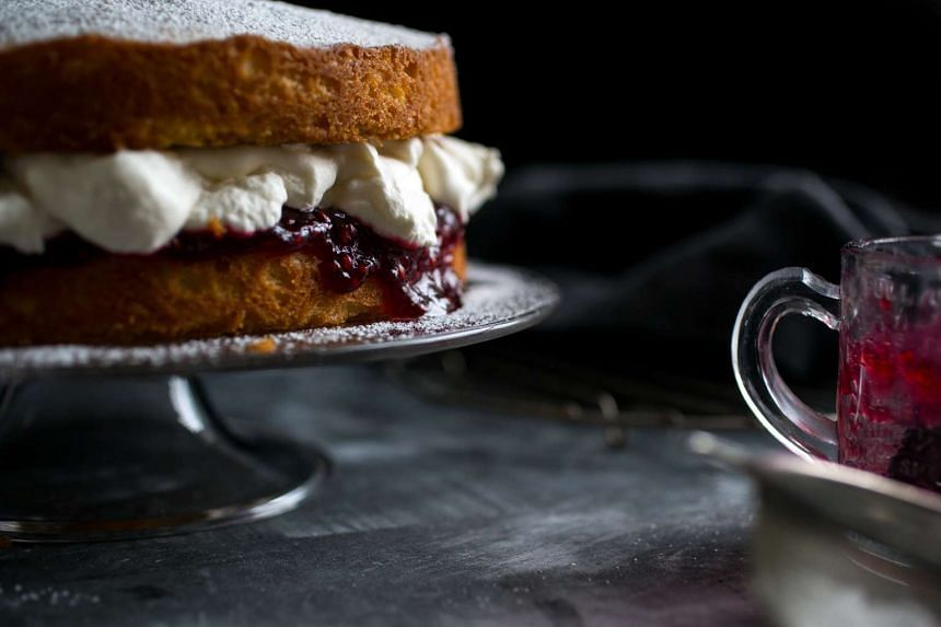 A Victoria spongecake, a traditional English dessert that has been re-popularised by the Great British Bake Off.