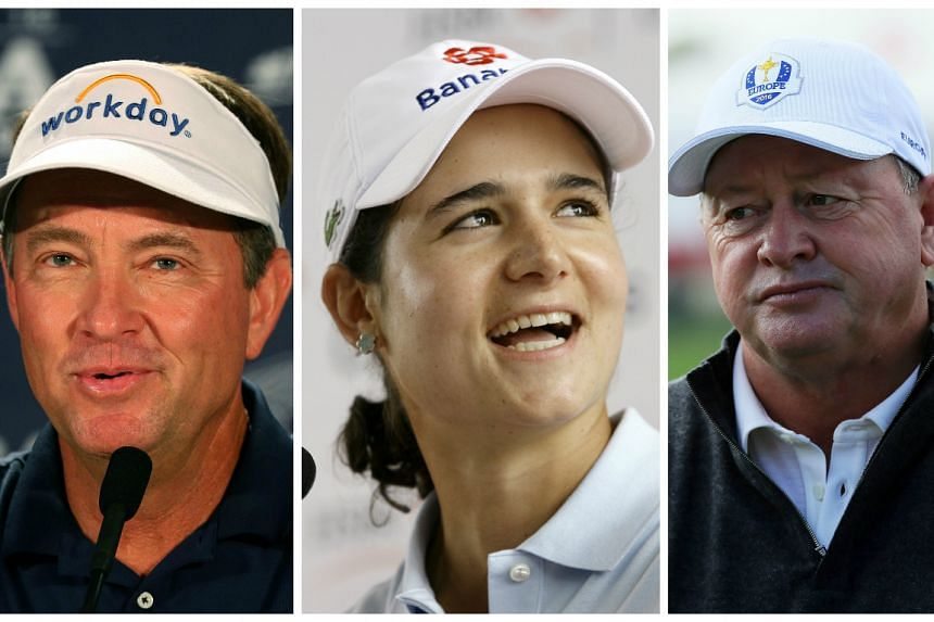 (From left) Davis Love, Lorena Ochoa and Ian Woosnam are among the new World Golf Hall of Fame inductees.
