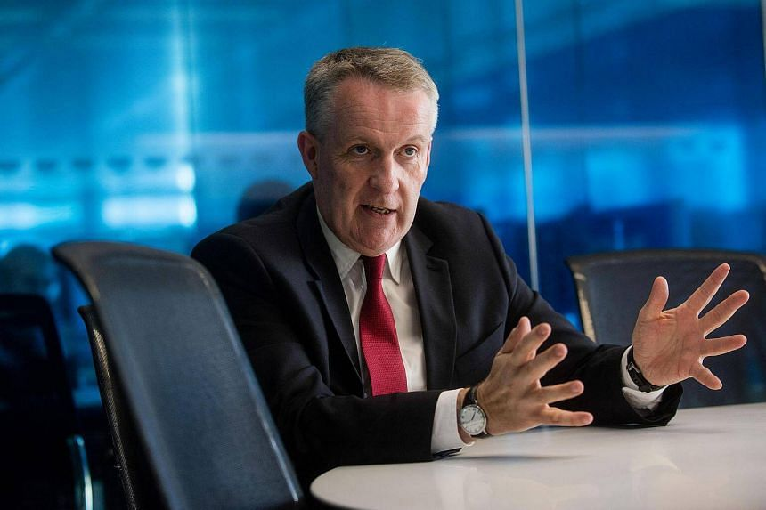 Mr Peter Bellew, chief executive officer of Malaysia Airlines, speaking during an interview in London.