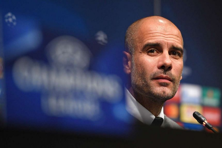 Manchester City's Spanish coach Pep Guardiola gives a press conference at Camp Nou stadium in Barcelona on Oct 18, 2016.