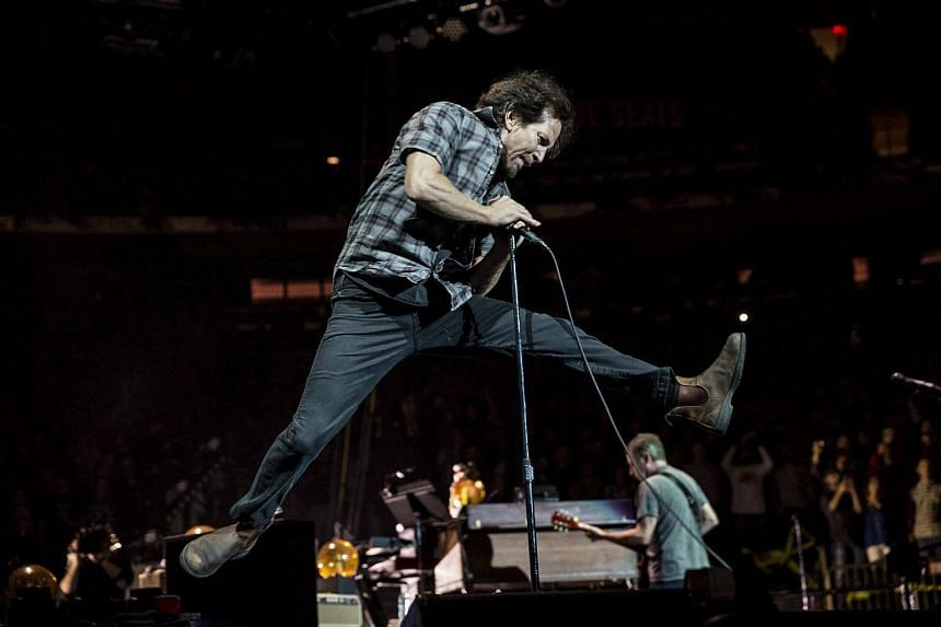 Eddie Vedder performs with Pearl Jam at a sold-out Madison Square Garden in New York on May 1, 2016.