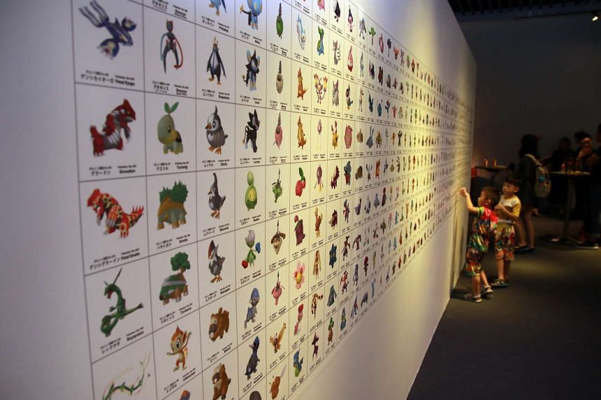 A chart depicting Pokemon species are seen at the opening of the Pokemon Research Exhibition at S.E.A Aquarium in Resorts World Sentosa on Oct 20, 2016.