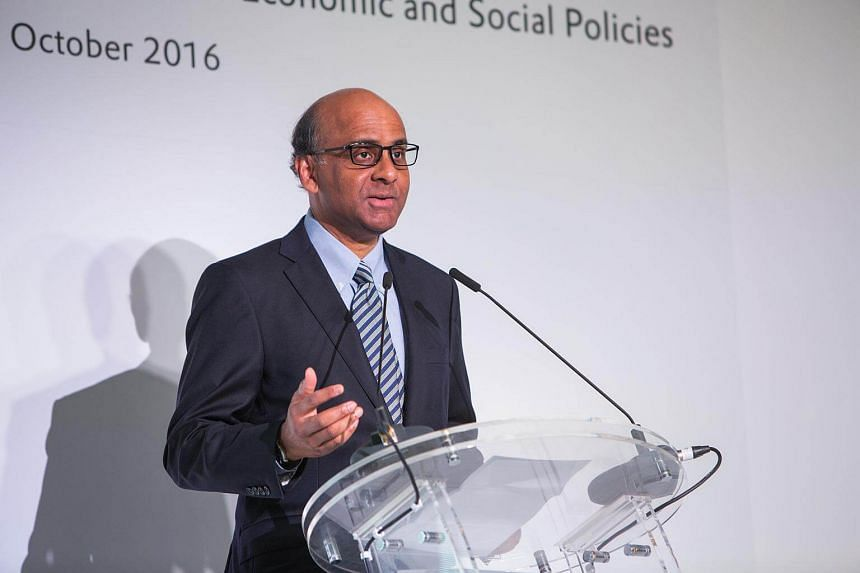 Mr Tharman Shanmugaratnam, Deputy Prime Minister and Coordinating Minister for Economic and Social Policies speaking at the Evonik Methionine Complex Opening on Oct 19, 2016.