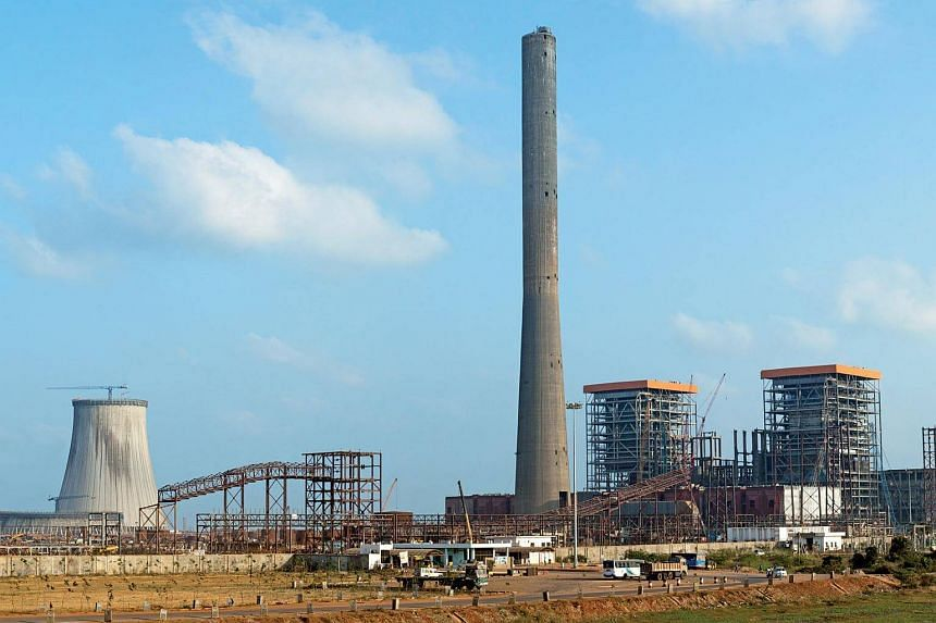 A 1,320-megawatt coal-fired power plant in Andhra Pradesh, India, located close to the Krishnapatnam port.