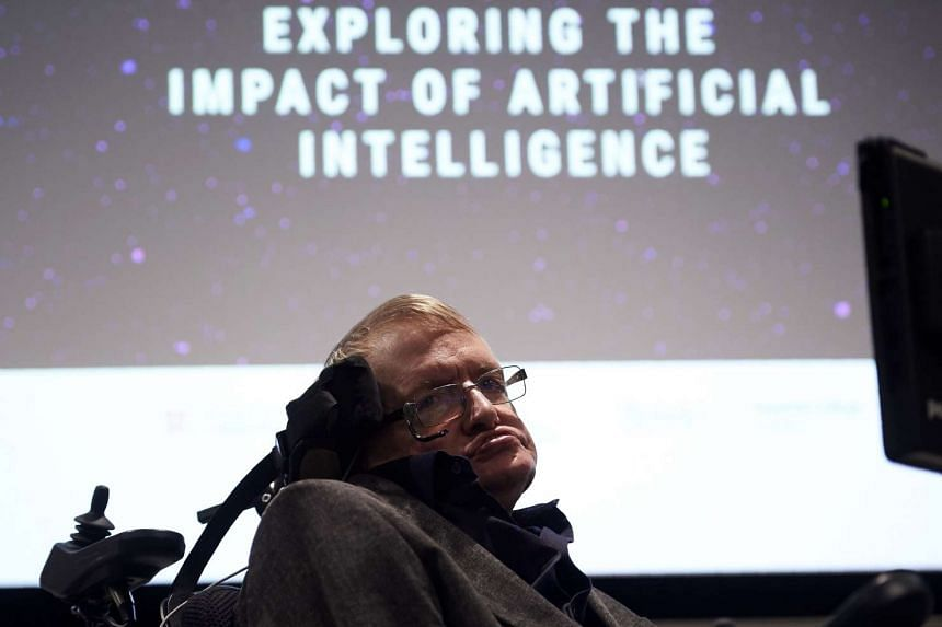 British scientist Stephen Hawking arrives to attend the launch of The Leverhulme Centre on Oct 19, 2016.