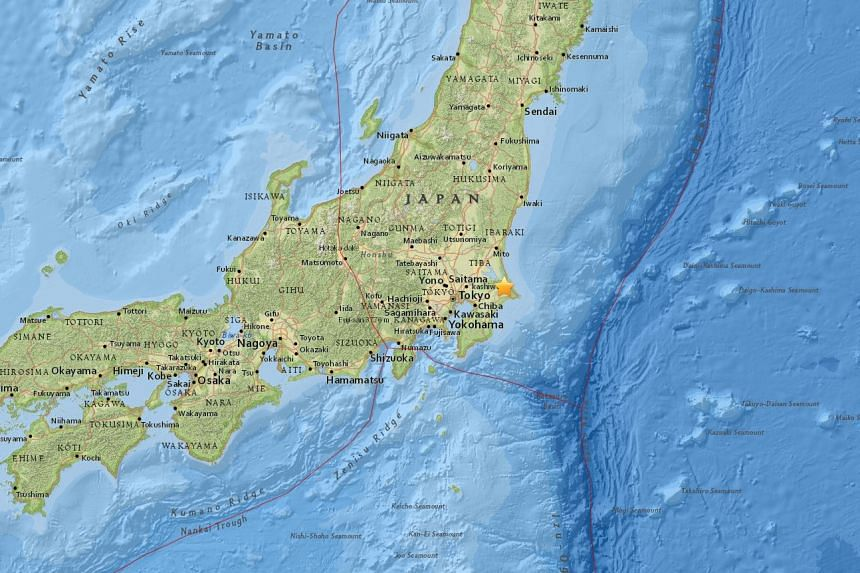 An earthquake of preliminary magnitude 5.3 struck Chiba, in eastern Japan, on Oct 20, 2016.