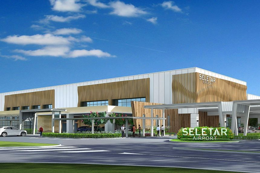 An artist's impression of the new Seletar Airport, scheduled to open at the end of 2018.