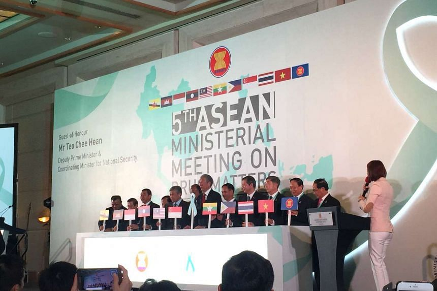 Asean ministers at the fifth Asean Ministerial Meeting on Drug Matters.