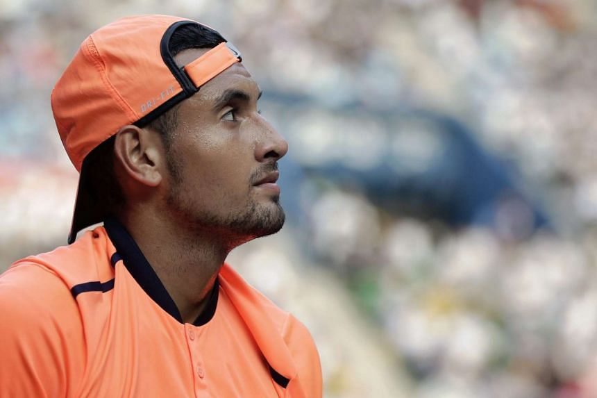 Kyrgios (above) will play in basketball's NBA All-Star Celebrity Game.
