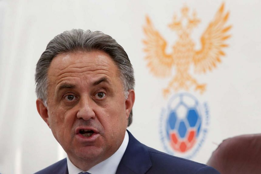 Mutko speaks during a news conference in Moscow, Russia, July 23, 2016.