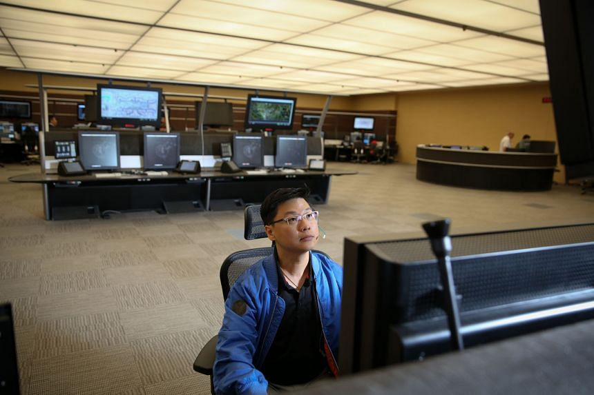 Mr Ang at the Singapore Air Traffic Control Centre. He is one of the 390 air traffic controllers at the CAAS and has been on the job for 10 years. With the number of flights at Changi Airport expected to double over the next 10 years, the CAAS intend