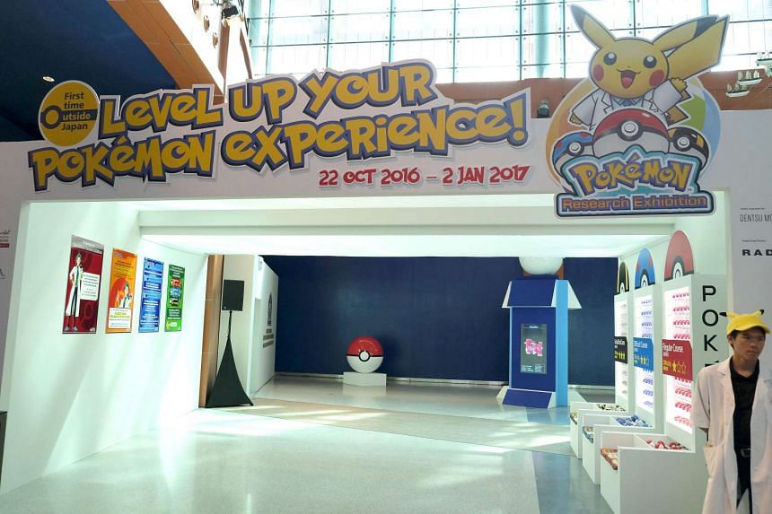 Entrance to the Pokemon Research Exhibition at S.E.A Aquarium in Resorts World Sentosa.