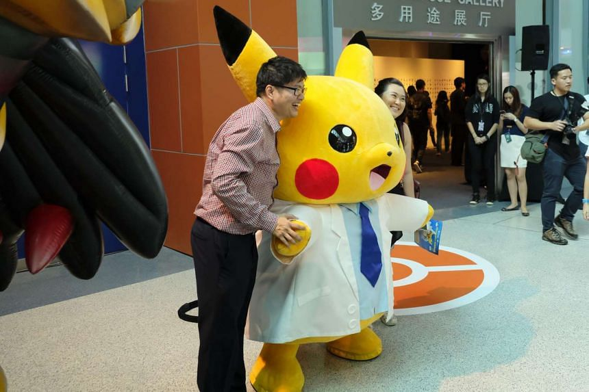 Professor Pikachu will make its appearance three times  daily during the Pokemon Research Exhibition at S.E.A Aquarium in Resorts World Sentosa.