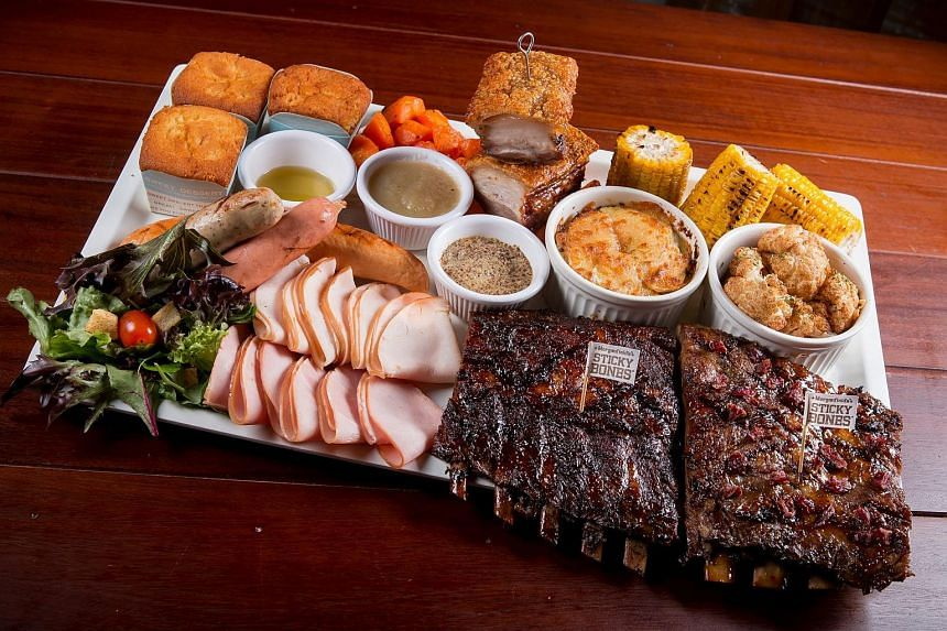 Morganfield's Christmas feast.