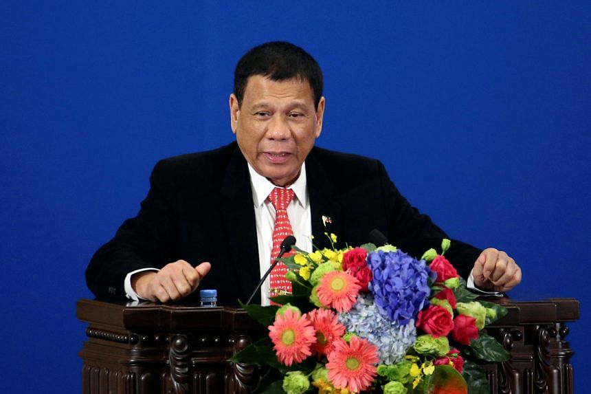 Mr Duterte's four-day trip to Beijing was seen as confirming his tilt away from Washington and towards Beijing's sphere of influence and its deep pockets.